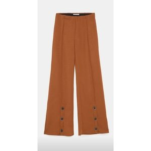 NWOT Zara Wide Leg Trousers with Buttons
